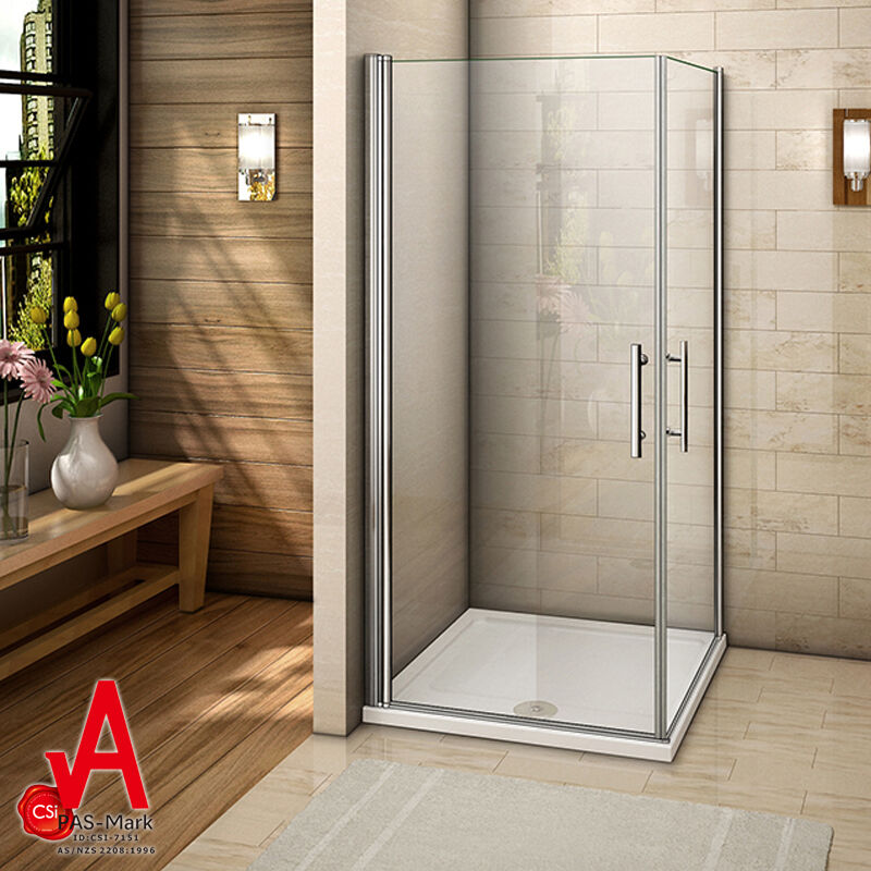 740 780 840 880mm Frameless Square Corner Shower Screen
