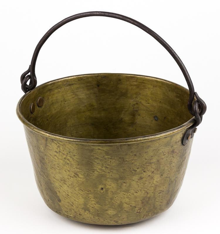 Battle Of The Kettles: COLONIAL-ERA HAMMERED BRASS INDIAN TRADE KETTLE