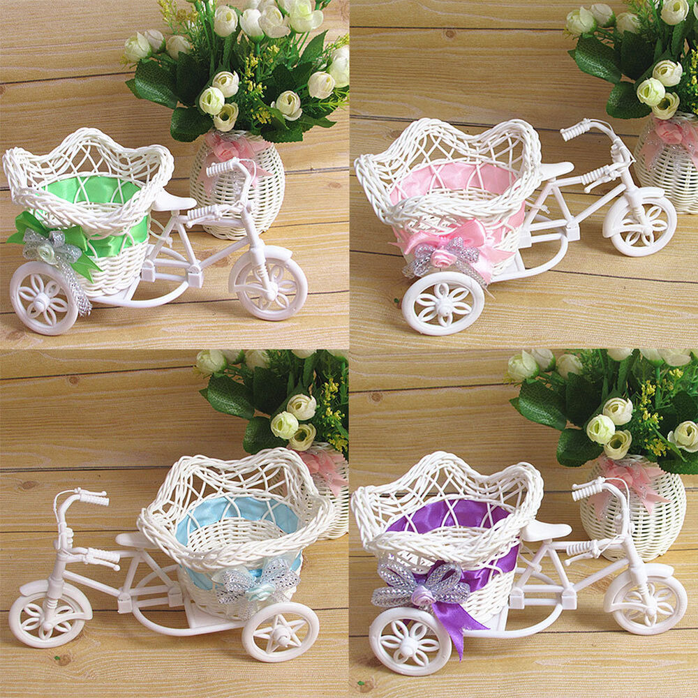 Tricycle bike pentagram basket container vases flower for Home decorations ebay