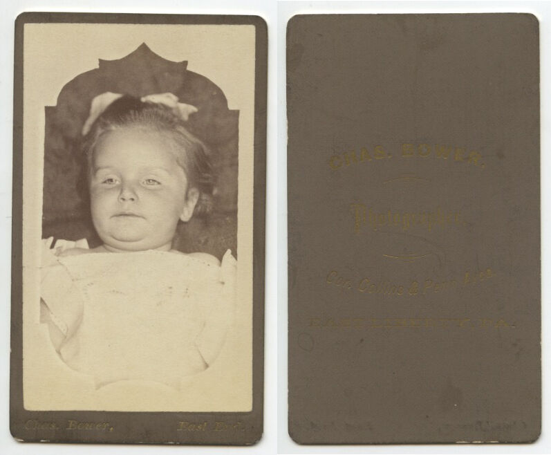 POST MORTEM BABY PORTRAIT, EAST LIBERTY, PA, BY BOWER