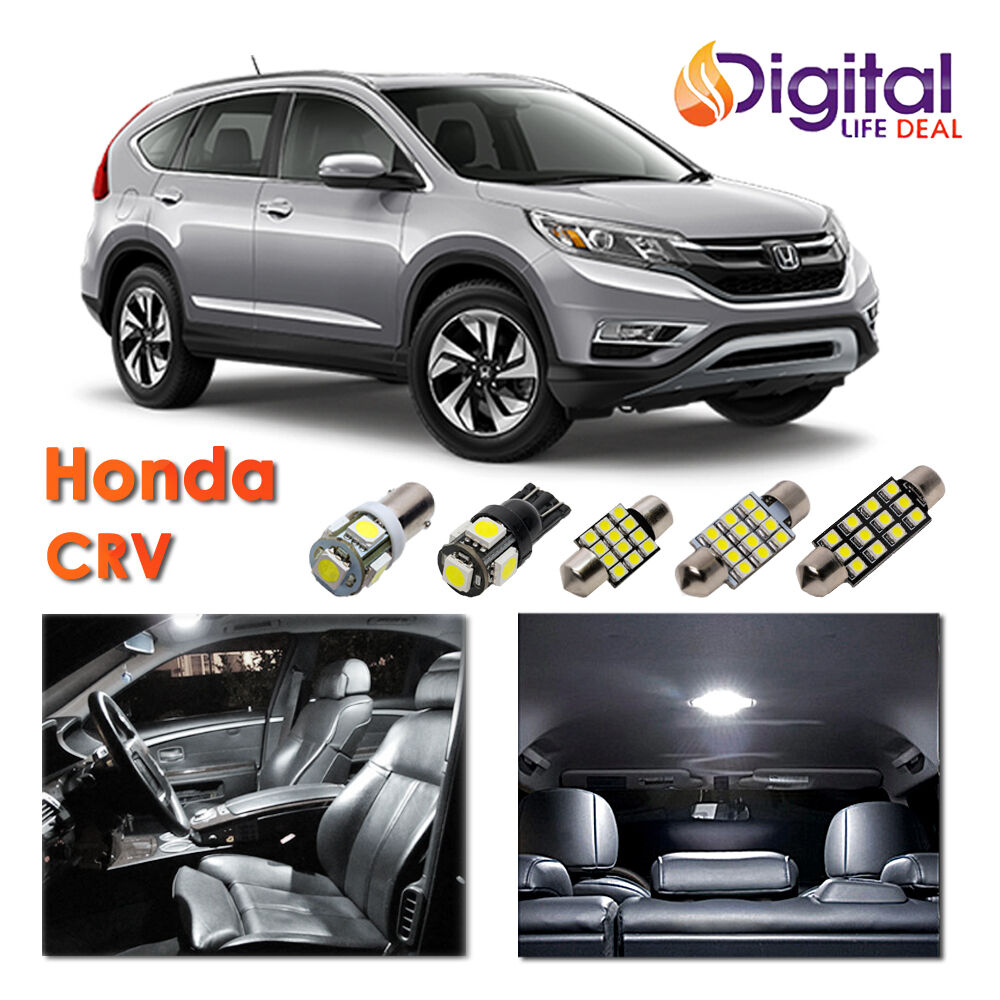 10 x white interior led lights package kit for 2013 2015 - 2015 honda accord interior illumination ...