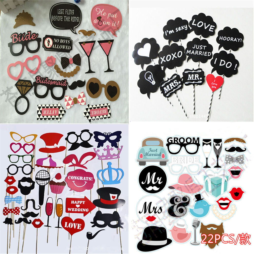 diy photo booth props wedding accessory birthday party funny selfie moustache ebay. Black Bedroom Furniture Sets. Home Design Ideas