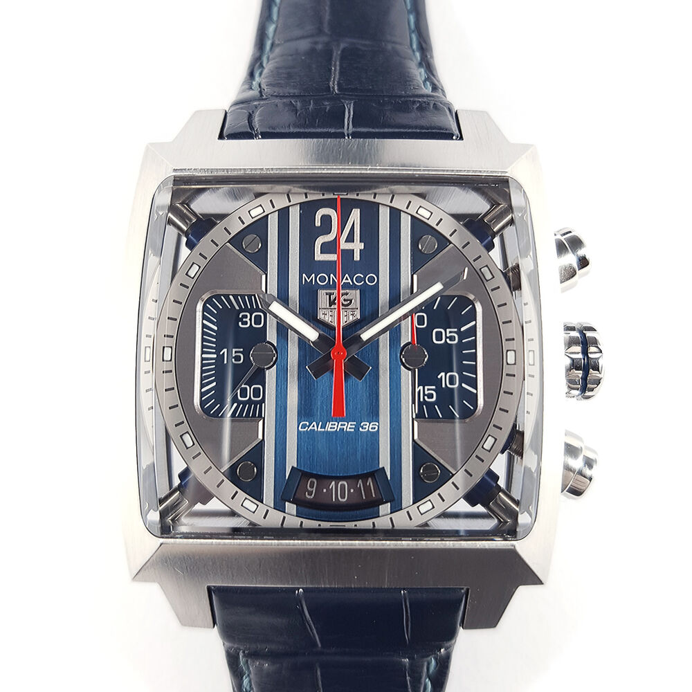 tag heuer monaco 24 steve mcqueen calibre 36 limited edition cal5111 fc6299 rare ebay. Black Bedroom Furniture Sets. Home Design Ideas