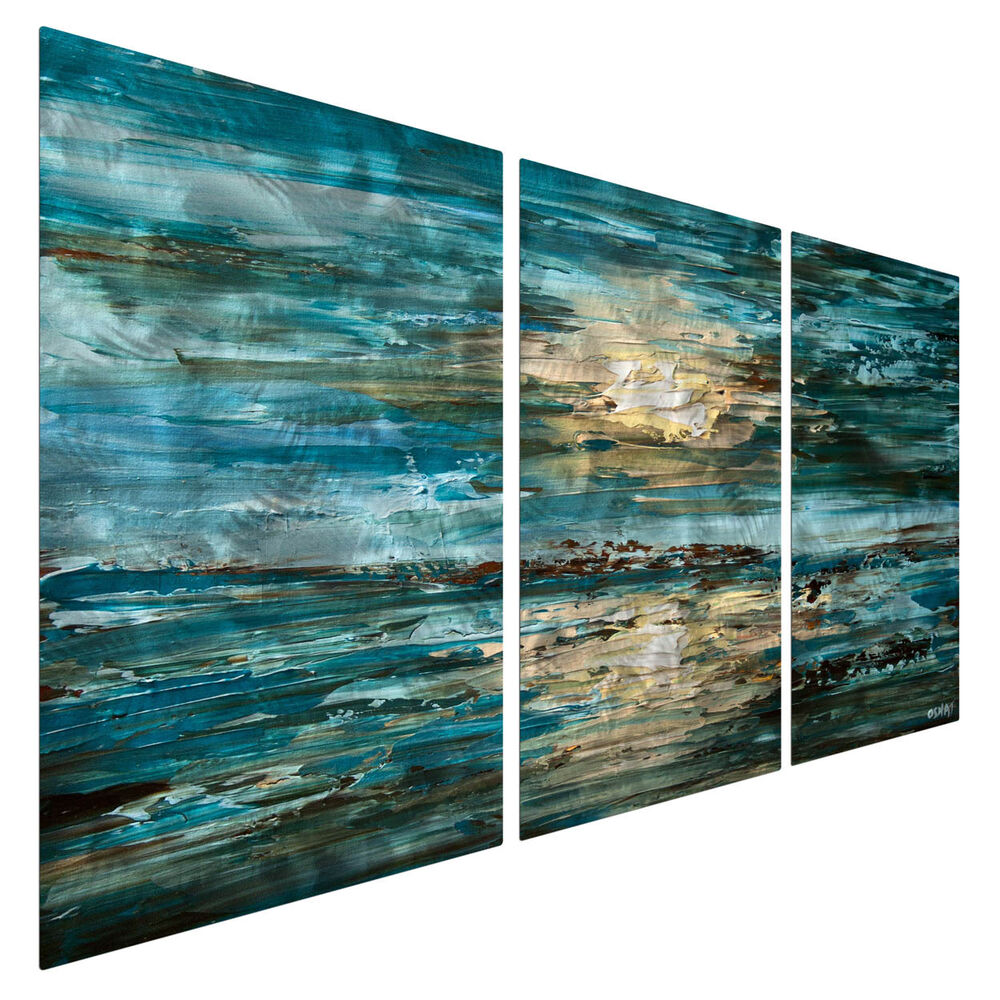 Beach Ocean Wall Decor : Metal wall art contemporary abstract celestial the sea