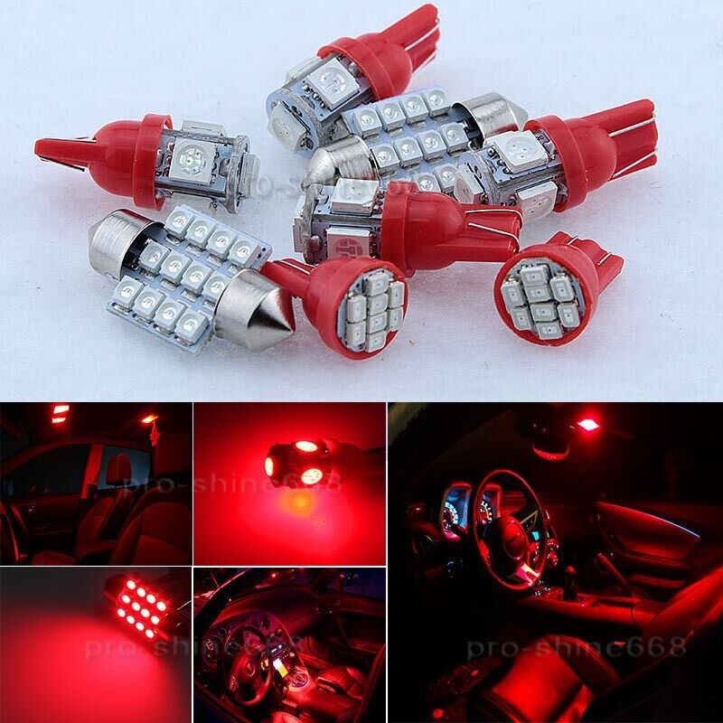 Newest Red Interior Led Lights Package Bulb Smd Lamp For 15 2017 Subaru Wrx Sti Ebay