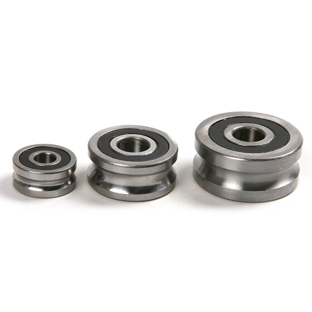 Sealed Bearing Assembly : Steel u type groove pulley sealed roller ball track guide