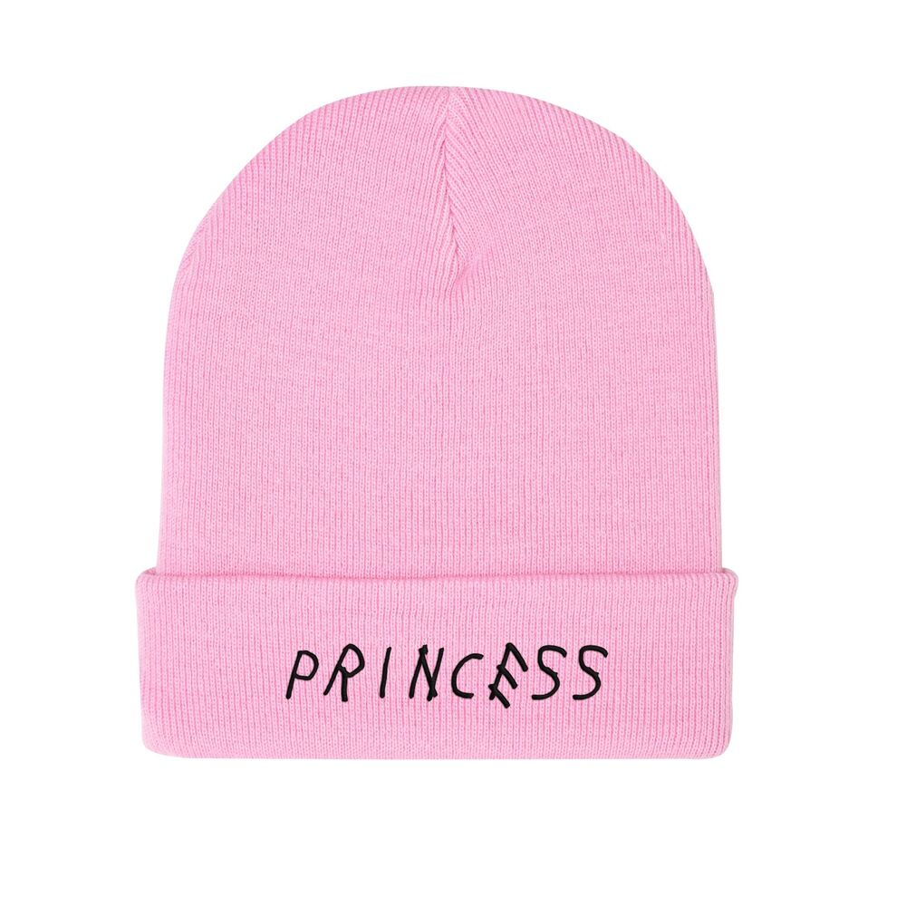 a866d67c7ba Details about PRINCESS EMBROIDERED BEANIE HAT TUMBLR FUNNY HIPSTER GRUNGE  CUTE PINK FASHION