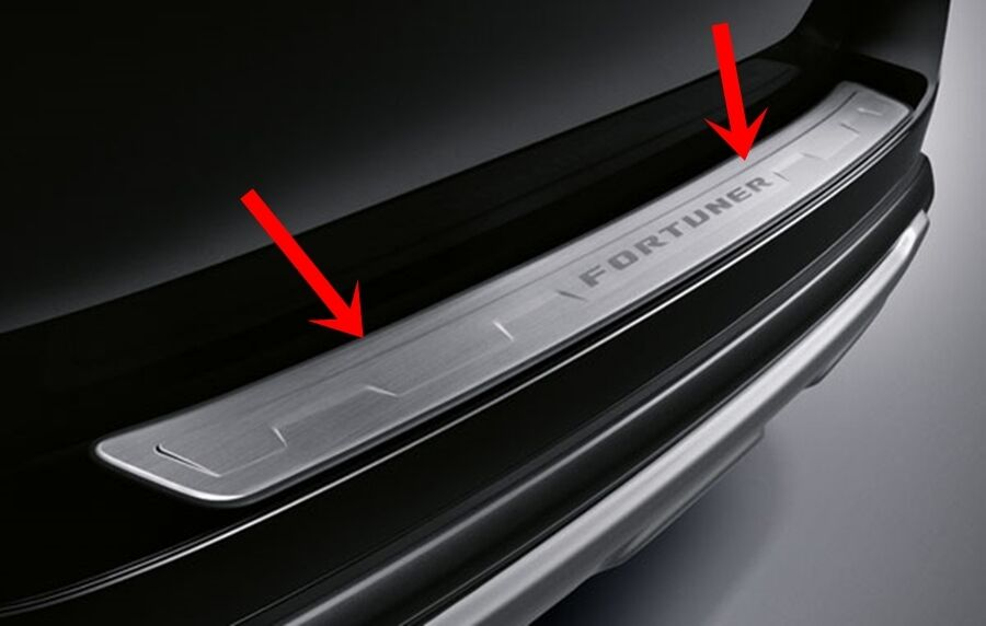 Bumper Guard For Suv >> TOYOTA FORTUNER 2016 GENUINE PARTS STAINLESS REAR BUMPER ...