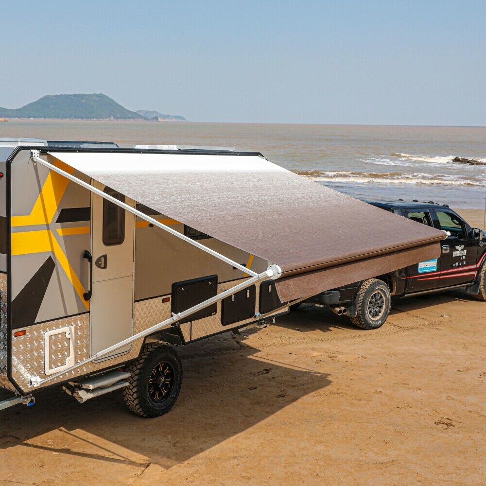 ALEKO Retractable RV or Home Patio Canopy Awning, Brown ...