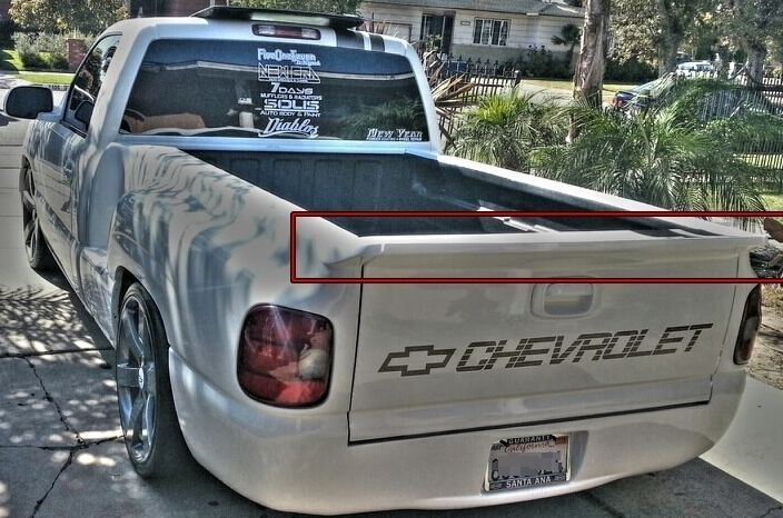 2016 Chevy Avalanche >> STEPSIDE Silverado Tailgate Spoiler Wing Free Shipping 99-06 SS Intimidator STEP | eBay