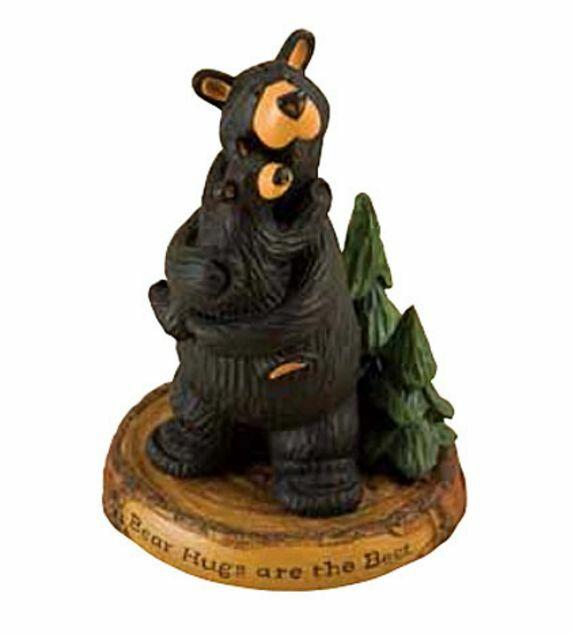 Big sky carvers bearfoots bear hugs figurine by jeff