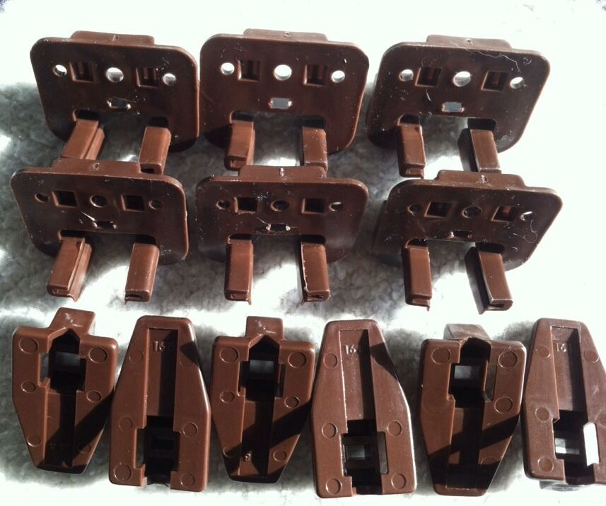 6 Sets Dresser Drawer Replacement Part Guide Glide Stop