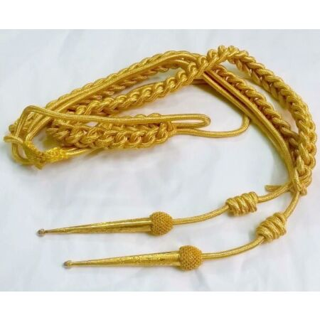 img-Army Aiguillette Gold Wire Cord/Officer US Military/British Navy Aiguillett/WWII