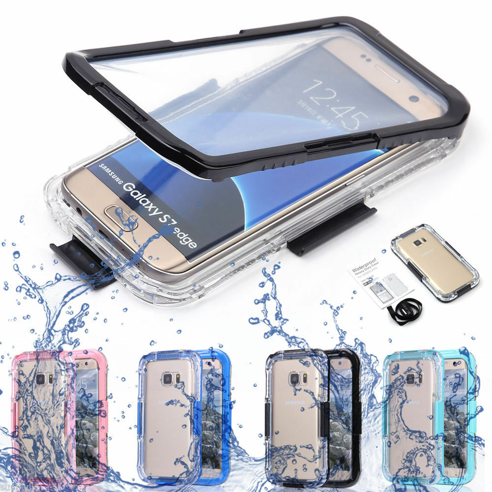 swimming waterproof shockproof phone clear case cover for samsung galaxy s7 edge ebay. Black Bedroom Furniture Sets. Home Design Ideas