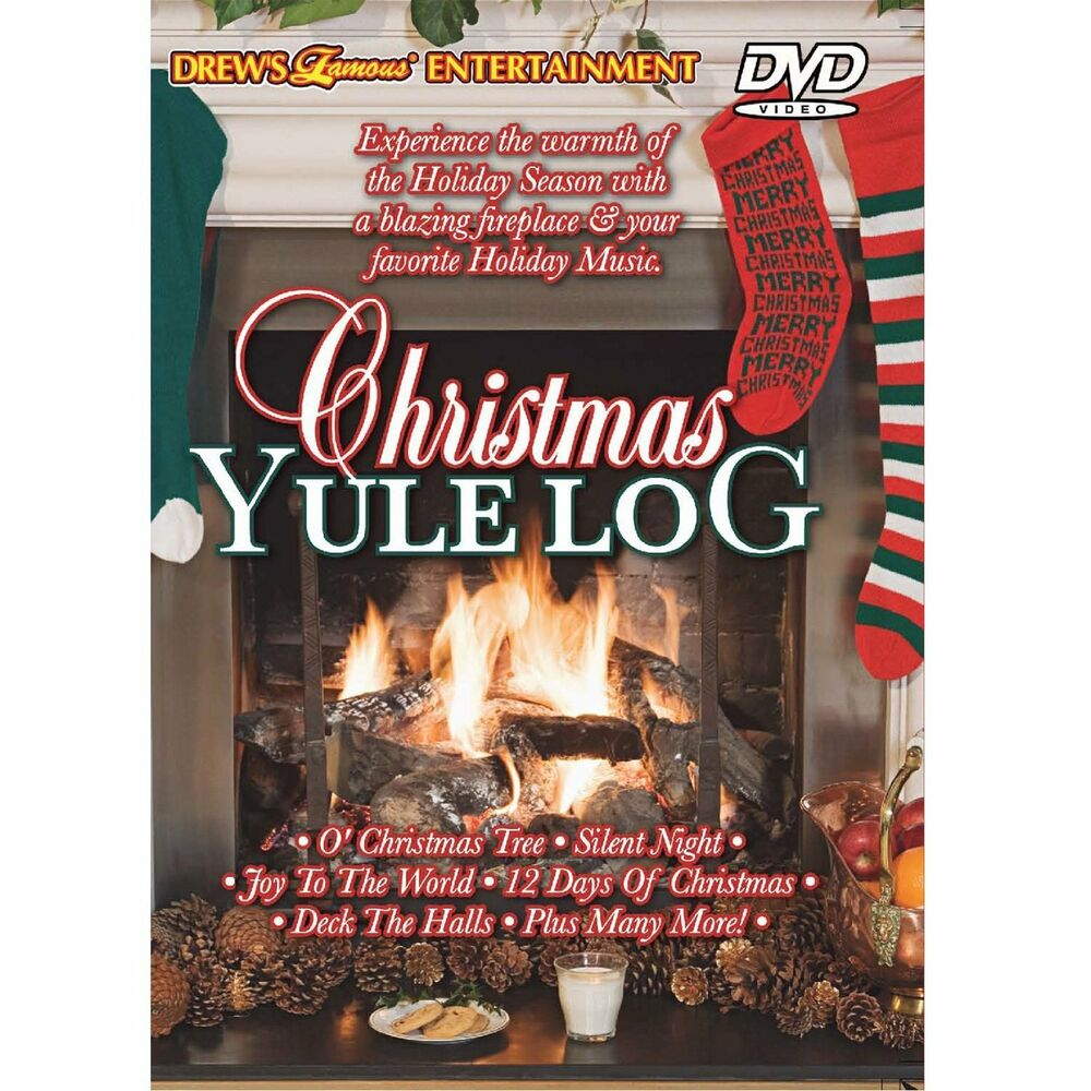 DREW\'S Famous CHRISTMAS YULE LOG: VIRTUAL HOLIDAY FIREPLACE DVD with ...