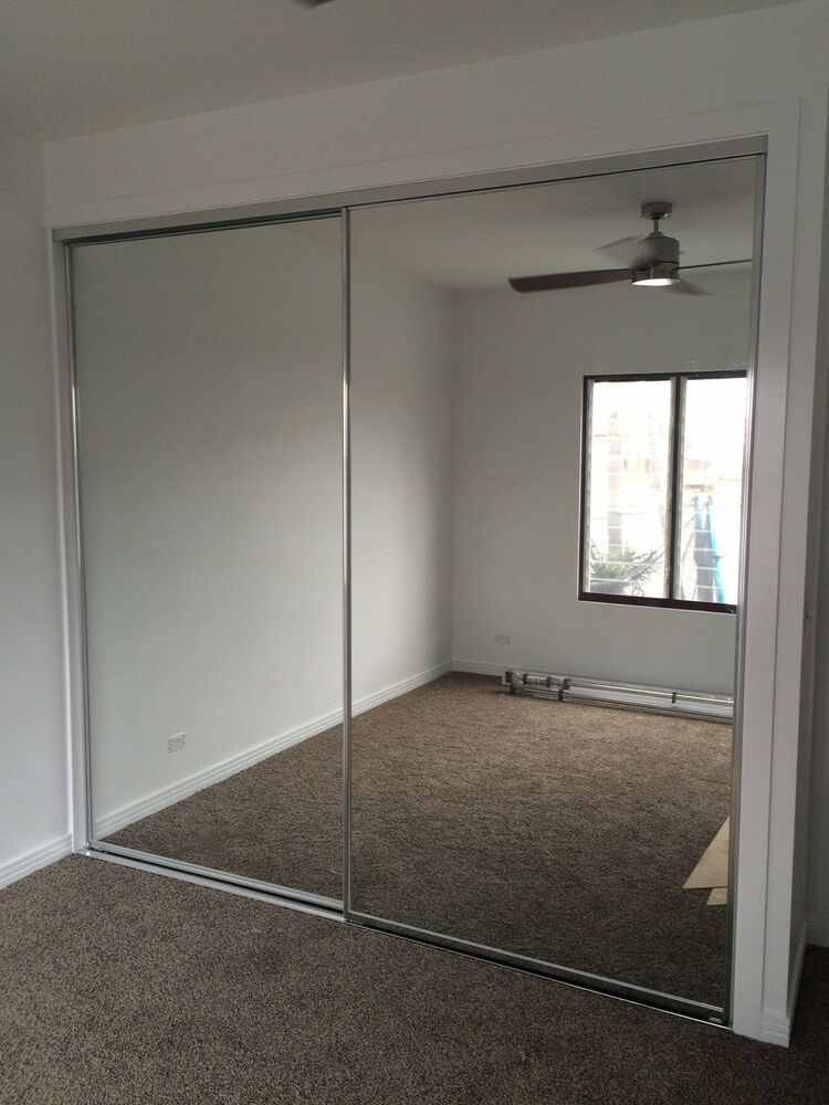 sliding framed mirror wardrobe doors 2100h x 625w ebay