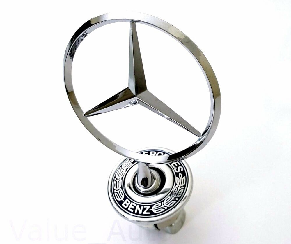 Mercedes benz hood mount emblem badge ornament 2108800186 for Mercedes benz bonnet badge