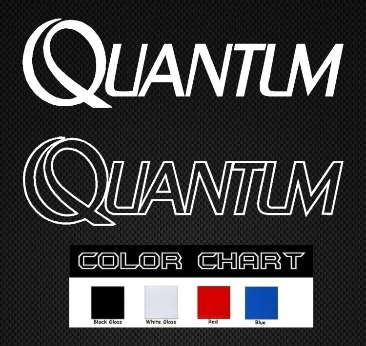 Quantum fishing stickers decal rod daiwa bass boat tackle for Fishing boat decals