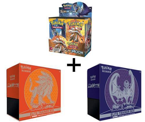 POKEMON TCG SUN AND MOON BOOSTER SEALED BOX + BOTH ELITE