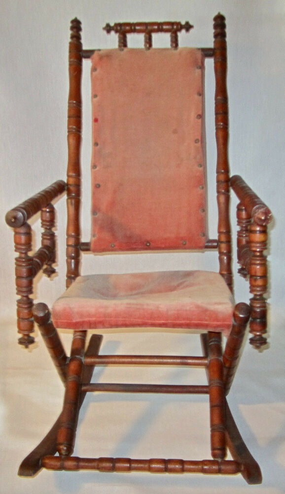 Antique Rocking Chair Styles ~ Antique victorian turned spool spindle stick ball quot carpet