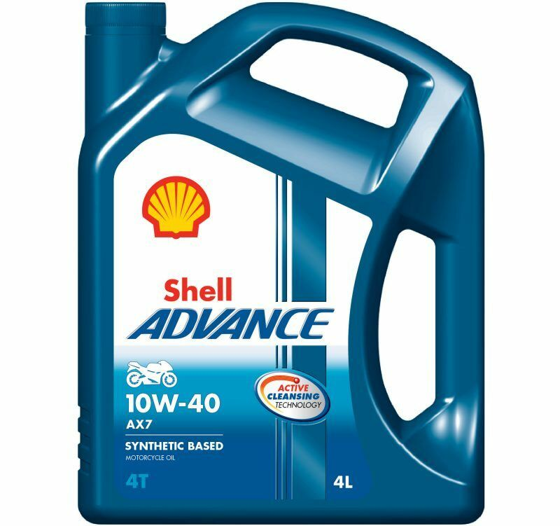 Shell advance ax7 10w 40 4t motorcycle engine oil semi for Shell synthetic motor oil