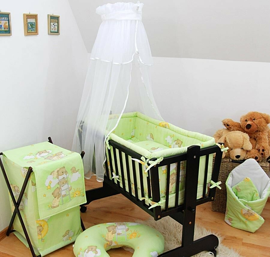 baby canopy vorhang for schaukel wiege schwingende krippe wiege moseskorb wei ebay. Black Bedroom Furniture Sets. Home Design Ideas