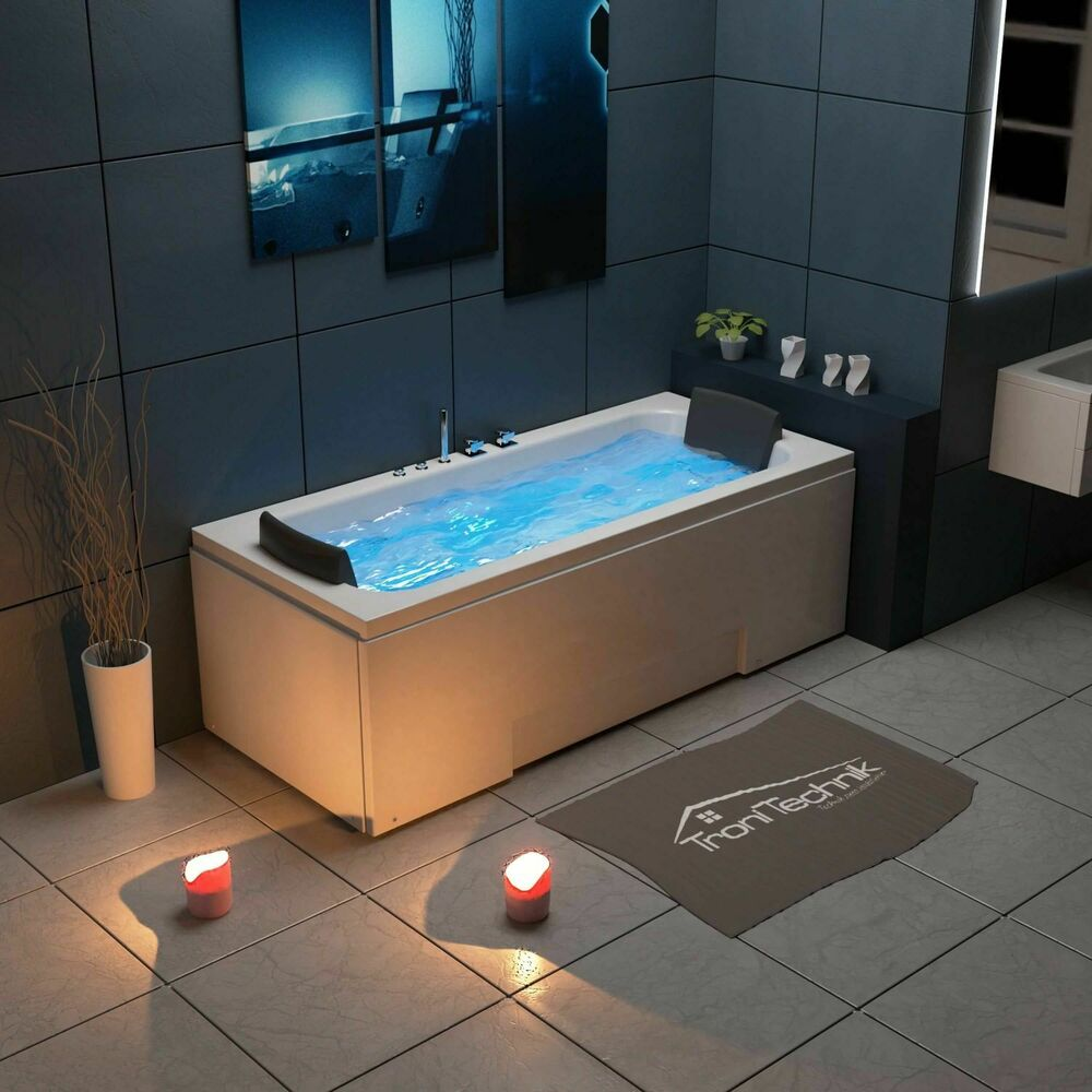 tronitechnik whirlpool badewanne 2 personen wanne eckbadewanne whirlwanne led ebay. Black Bedroom Furniture Sets. Home Design Ideas