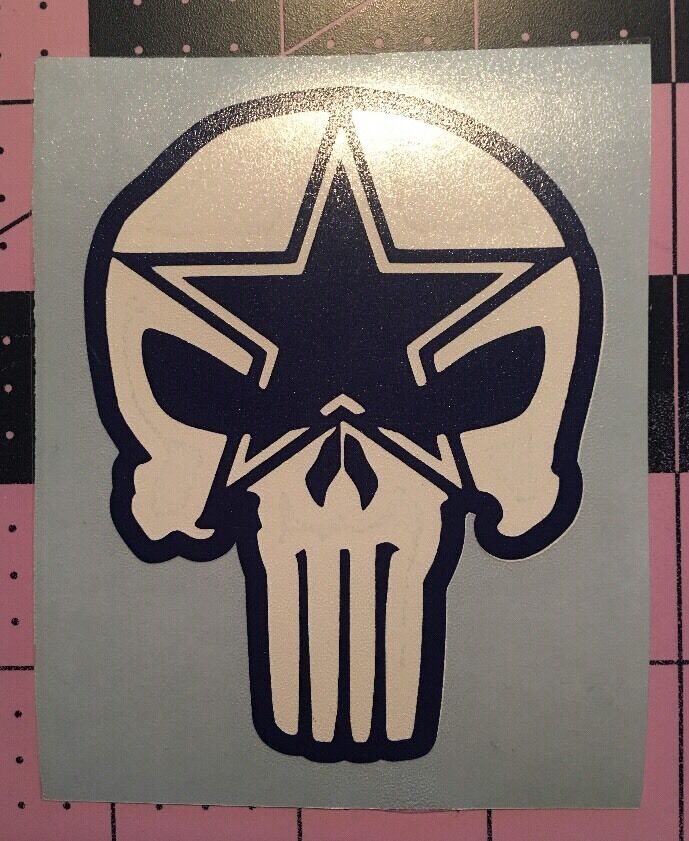 Punisher Dallas Cowboys Decal For Your Yeti Rambler