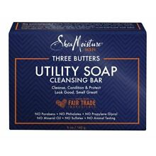 Shea Moisture Three Butters Utility Soap Cleansing Bar 5 oz