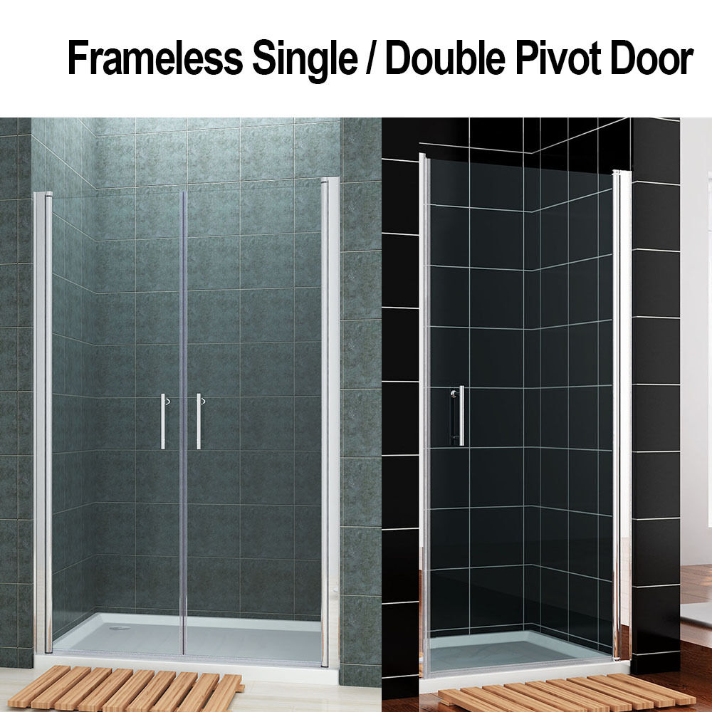 Frameless Doublesingle Shower Screen Enclosure Pivot Door Wall To