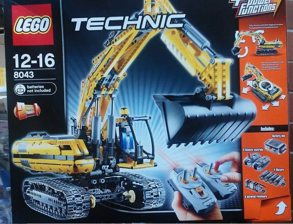 lego technic 8043 motorisierter raupenbagger rarit t mit. Black Bedroom Furniture Sets. Home Design Ideas