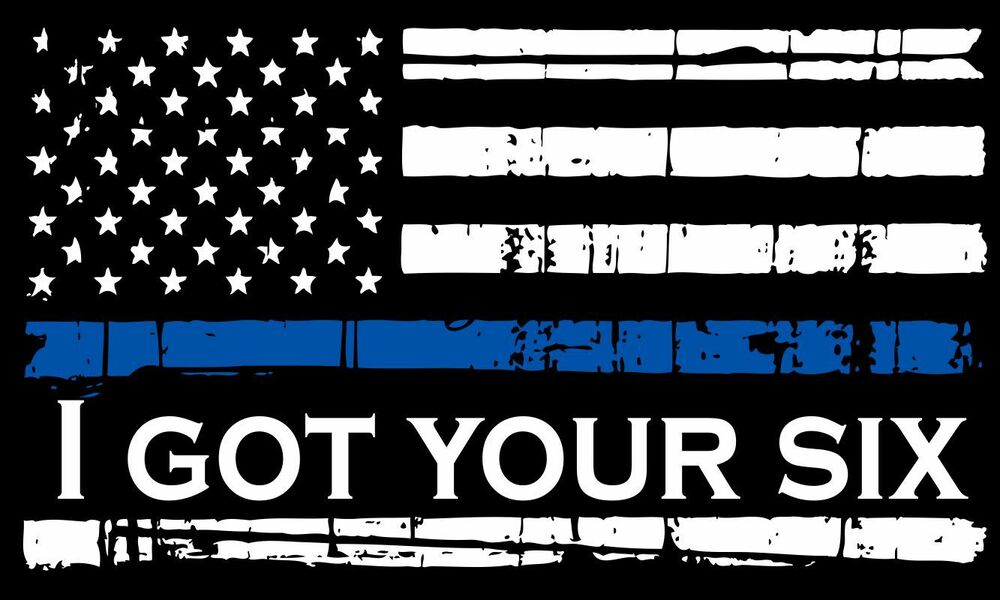 Thin Blue Line Decal Tattered Flag Reflective Got Your
