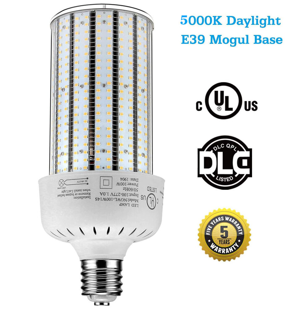 ul dlc 400watt metal halide replacement e39 100w led corn bulb 6000k ac100 277v ebay. Black Bedroom Furniture Sets. Home Design Ideas