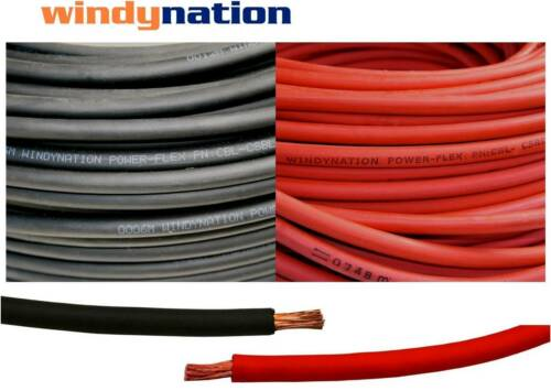 8, 6, 4, 2, 1/0, 2/0, 4/0 Gauge AWG Red & or Black Welding Battery Copper Cable