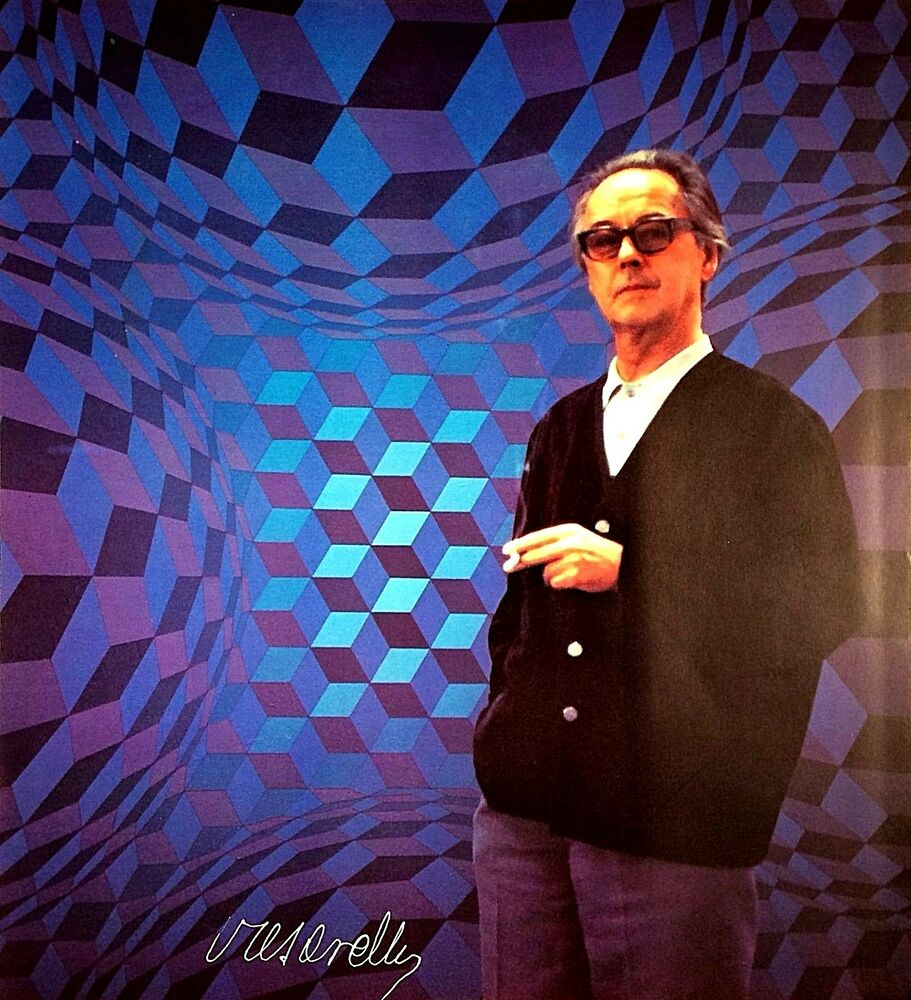VICTOR VASARELY HAND SIGNED SIGNATURE * PORTRAIT * PHOTO ...