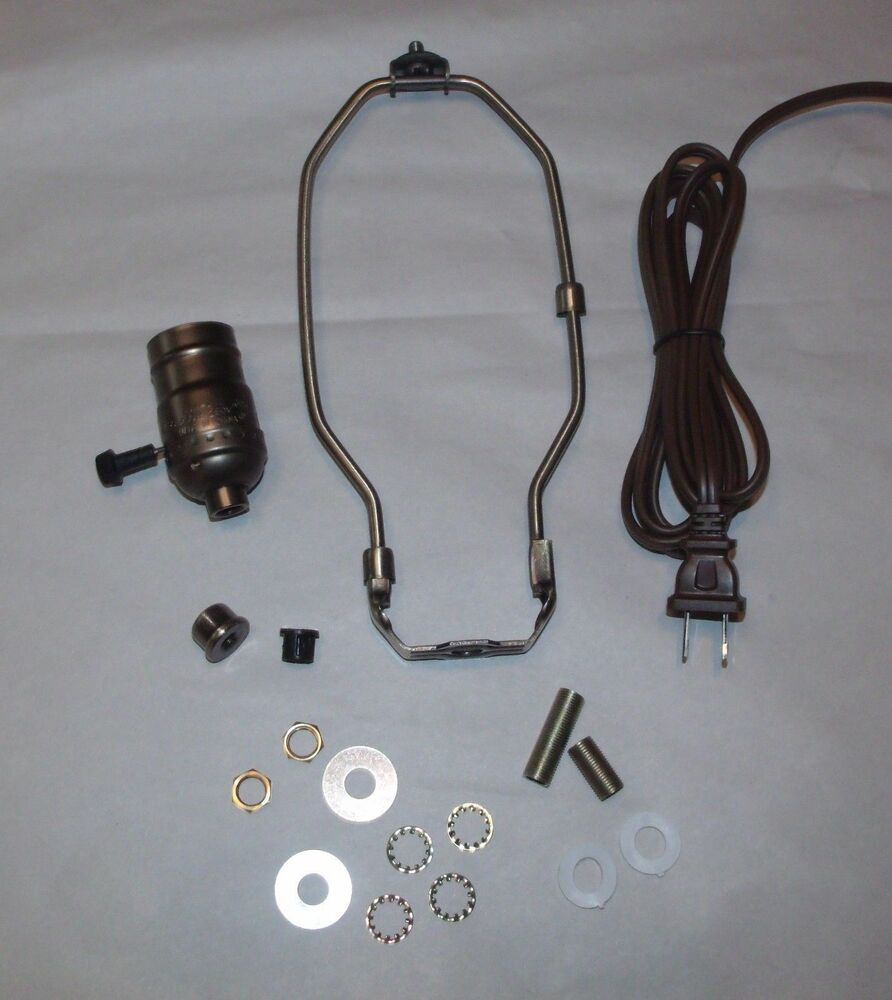 Lamp Socket Wiring Kit Manual Guide Diagram Making Supplies And Kits 30551a10 Table Antique Brass Make A 3 Way 8 Quot Harp By
