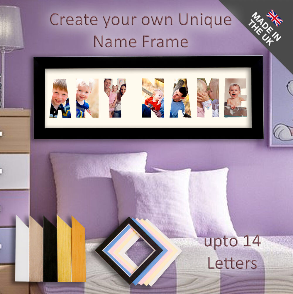 Any name picture frame unique personalised word gift 3 14 any name picture frame unique personalised word gift 3 14 letters children ebay jeuxipadfo Choice Image