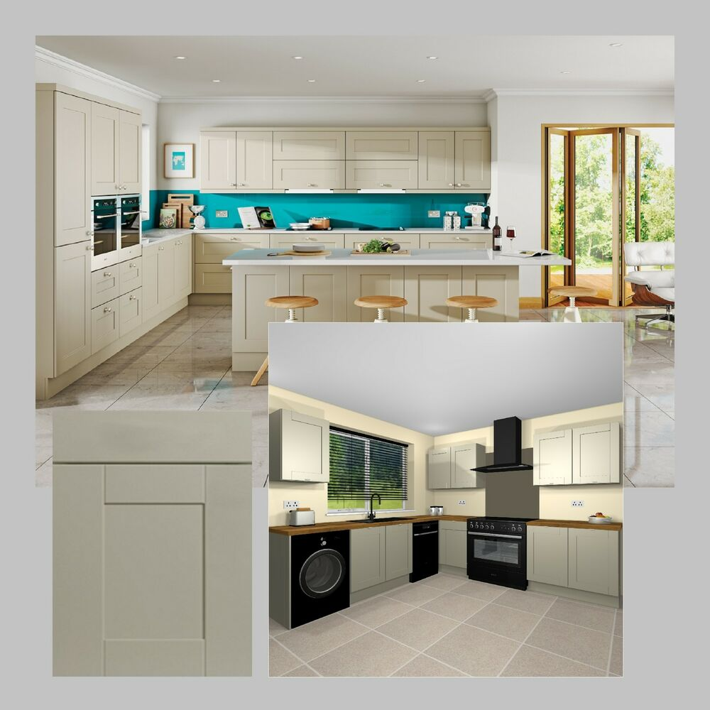 new complete shaker dakar fitted kitchen cabinets doors drawer ebay