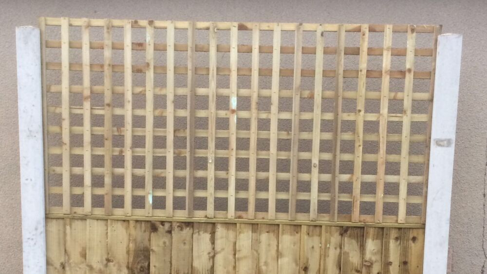 6x3 heavy duty privacy squared trellis fence topper. Black Bedroom Furniture Sets. Home Design Ideas