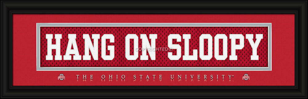 Ohio State Man Cave Signs : Ohio state buckeyes framed stitched uniform sign print