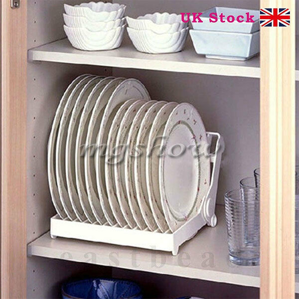 kitchen plate organizer foldable dish plate drying rack organizer drainer plastic 2444