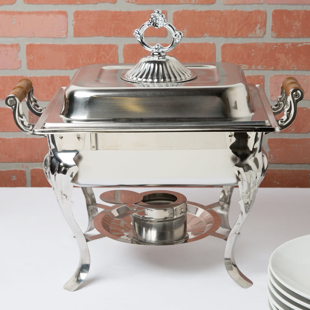 5 pack catering classic stainless steel chafer chafing dish set 4 qt buffet half ebay. Black Bedroom Furniture Sets. Home Design Ideas