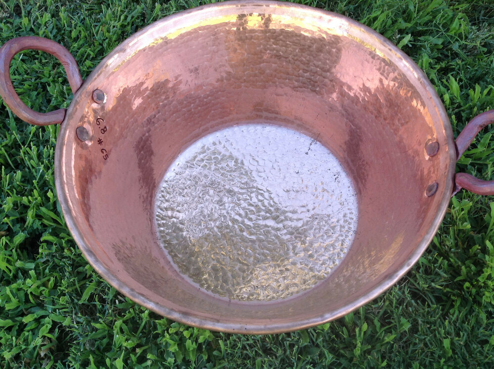 Mexican Pure Copper Cazo Open Pot For Carnitas Super Huge