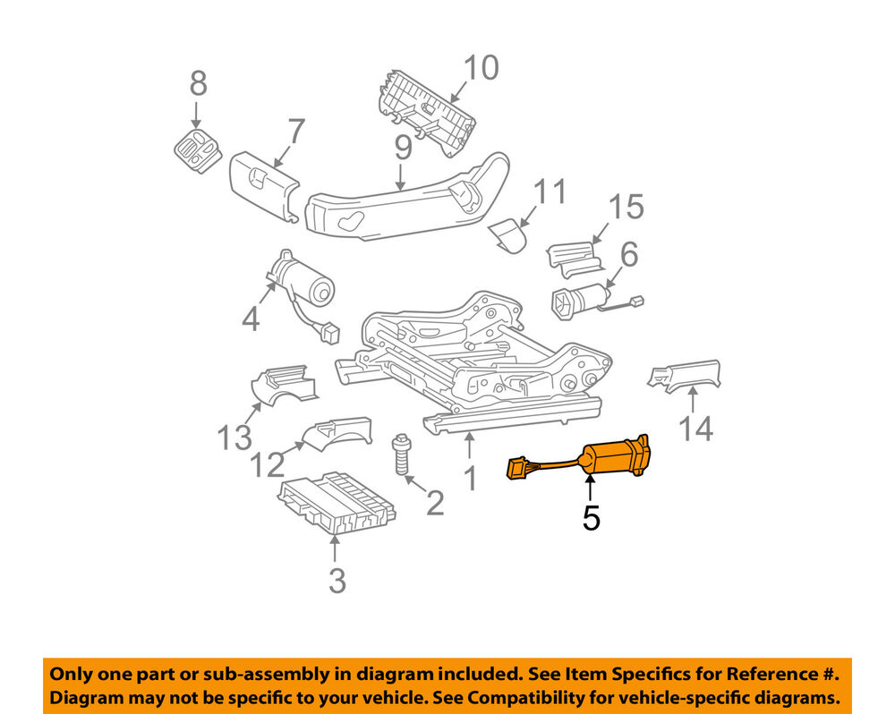 Mercedes mercedes benz oem 08 11 c300 power seat track for Mercedes benz parts oem