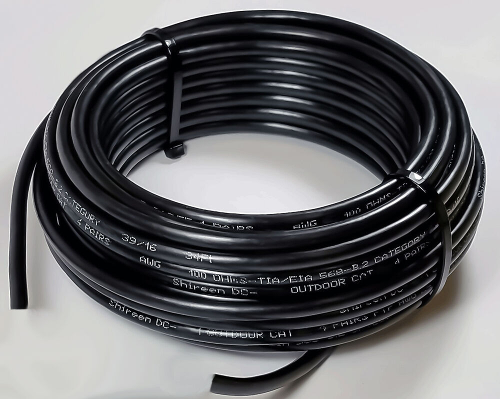 100ft Outdoor Cat6 With Waterblocking Gel Tape Direct