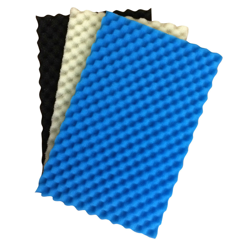 Fish pond spare replacement filter foam set pack of 3 for Foam in koi pond