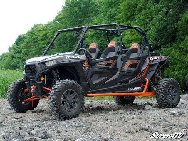 Black Polaris Rzr 4 Crew Turbo 900 1000 Rock Sliding