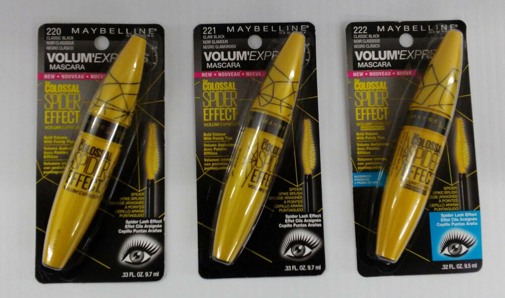 93295322a84 Details about MAYBELLINE THE COLOSSAL SPIDER EFFECT VOLUM'EXPRESS MASCARA -  You Choose