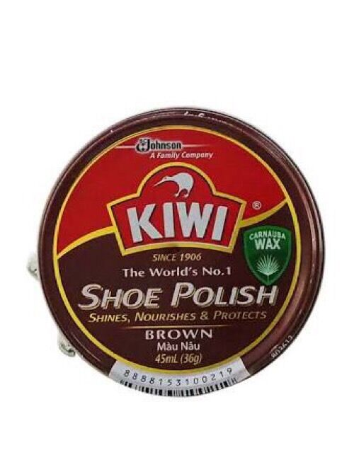 kiwi leather shoe boot wax tins shines nourishes