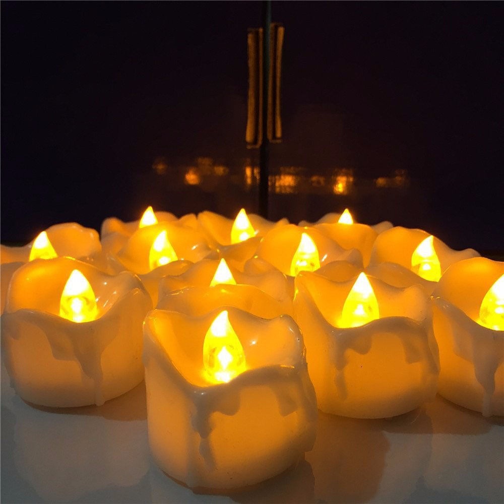 Candles Decoration: Decoration Gift LED Electric Candles Yellow Flicker